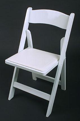 Wedding White Padded Resin Chair